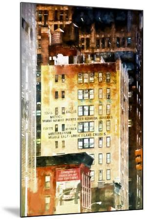 Travel Building-Philippe Hugonnard-Mounted Giclee Print