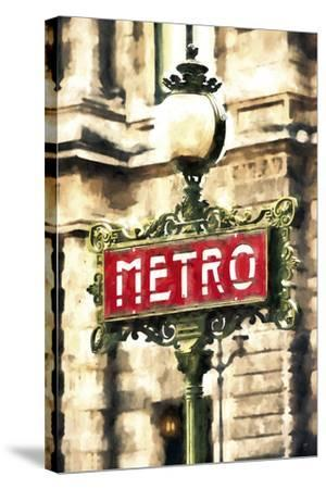Metro Paris-Philippe Hugonnard-Stretched Canvas Print