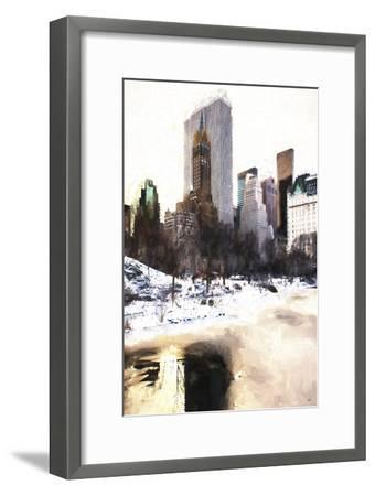 Frozen Lake in Central Park-Philippe Hugonnard-Framed Giclee Print