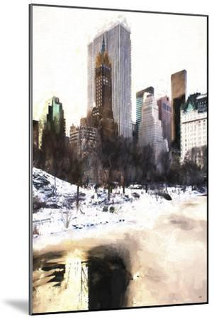 Frozen Lake in Central Park-Philippe Hugonnard-Mounted Giclee Print