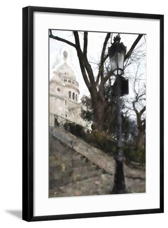 The steps of the Basilica in Montmartre-Philippe Hugonnard-Framed Giclee Print