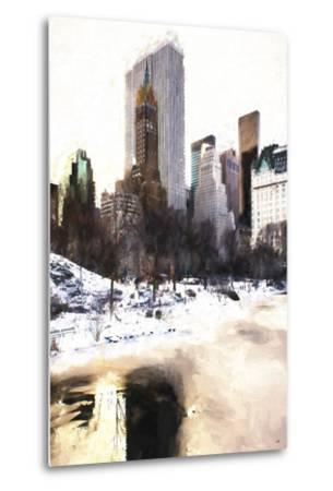 Frozen Lake in Central Park-Philippe Hugonnard-Metal Print