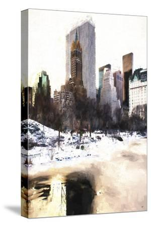 Frozen Lake in Central Park-Philippe Hugonnard-Stretched Canvas Print