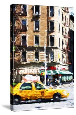 Taxi Driver - In the Style of Oil Painting-Philippe Hugonnard-Stretched Canvas Print