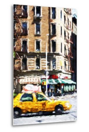 Taxi Driver - In the Style of Oil Painting-Philippe Hugonnard-Metal Print