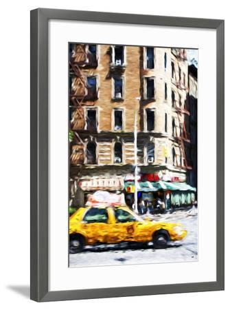 Taxi Driver - In the Style of Oil Painting-Philippe Hugonnard-Framed Giclee Print