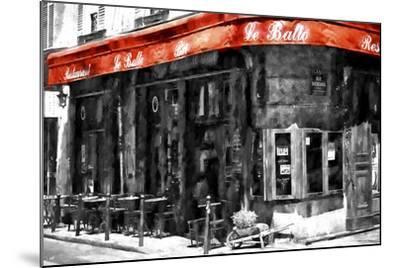 Traditional Parisian Bar II-Philippe Hugonnard-Mounted Giclee Print