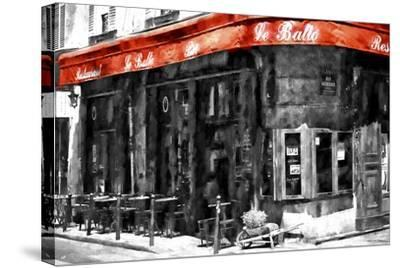 Traditional Parisian Bar II-Philippe Hugonnard-Stretched Canvas Print