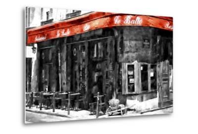 Traditional Parisian Bar II-Philippe Hugonnard-Metal Print