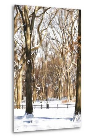 Snow in Central Park-Philippe Hugonnard-Metal Print