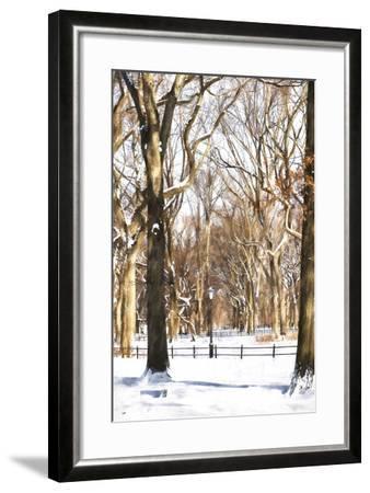 Snow in Central Park-Philippe Hugonnard-Framed Giclee Print
