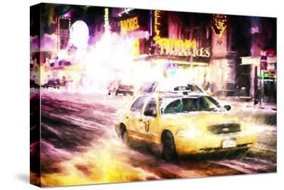 Manhattan Night Storm-Philippe Hugonnard-Stretched Canvas Print