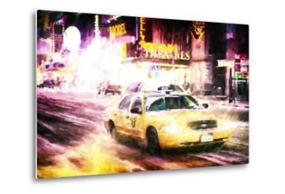 Manhattan Night Storm-Philippe Hugonnard-Metal Print