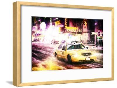 Manhattan Night Storm-Philippe Hugonnard-Framed Giclee Print