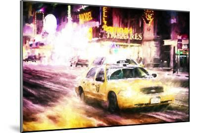 Manhattan Night Storm-Philippe Hugonnard-Mounted Giclee Print