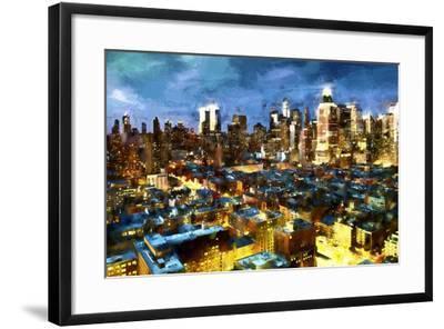 NY Blue Night-Philippe Hugonnard-Framed Giclee Print