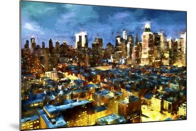 NY Blue Night-Philippe Hugonnard-Mounted Giclee Print