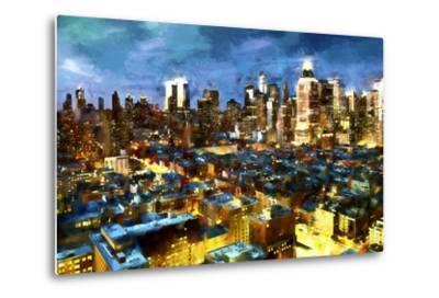 NY Blue Night-Philippe Hugonnard-Metal Print