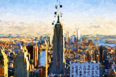 New York City - In the Style of Oil Painting-Philippe Hugonnard-Framed Giclee Print