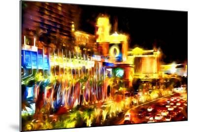 Vegas Palace - In the Style of Oil Painting-Philippe Hugonnard-Mounted Giclee Print