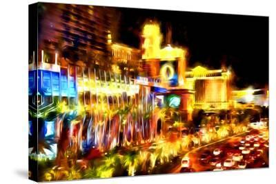 Vegas Palace - In the Style of Oil Painting-Philippe Hugonnard-Stretched Canvas Print
