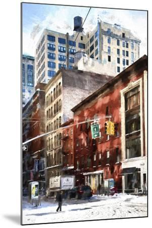 Manhattan Street in Winter-Philippe Hugonnard-Mounted Giclee Print