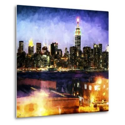 Manhattan Brooklyn-Philippe Hugonnard-Metal Print