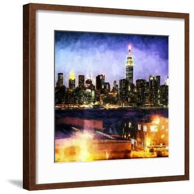 Manhattan Brooklyn-Philippe Hugonnard-Framed Giclee Print