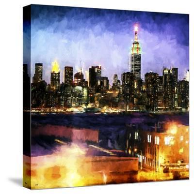 Manhattan Brooklyn-Philippe Hugonnard-Stretched Canvas Print