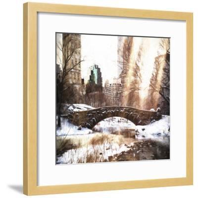 Sunlight on Central Park-Philippe Hugonnard-Framed Giclee Print