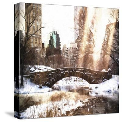Sunlight on Central Park-Philippe Hugonnard-Stretched Canvas Print