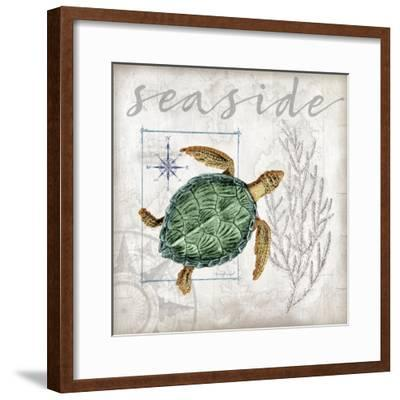 Coastal Sea Turtle-Jennifer Pugh-Framed Art Print
