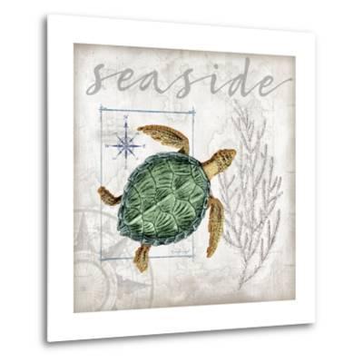 Coastal Sea Turtle-Jennifer Pugh-Metal Print