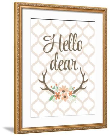 Hello Deer-Tamara Robinson-Framed Art Print