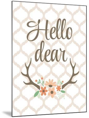 Hello Deer-Tamara Robinson-Mounted Art Print