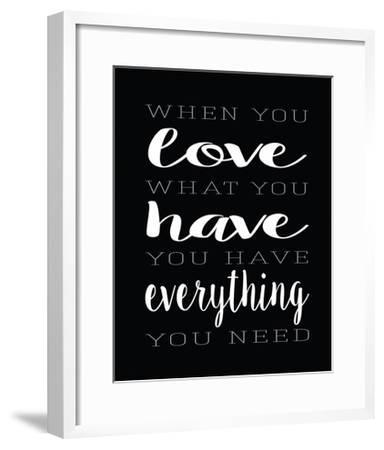 Love What You Have Layers-Alli Rogosich-Framed Art Print