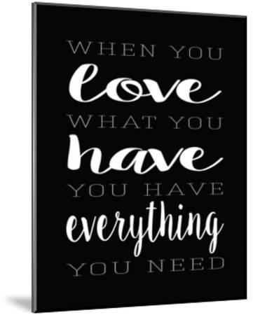Love What You Have Layers-Alli Rogosich-Mounted Art Print