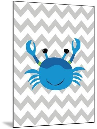 Chevron Crab-Tamara Robinson-Mounted Art Print