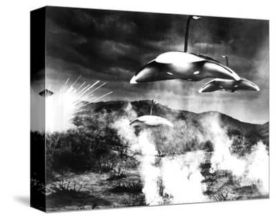 The War of the Worlds--Stretched Canvas Print