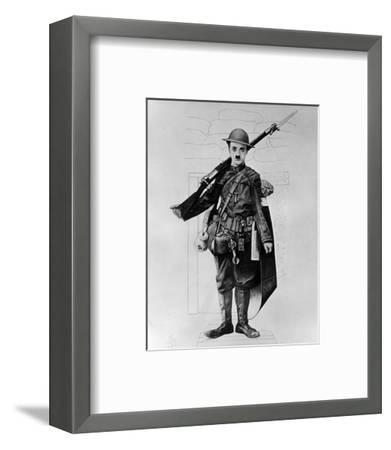 Charles Chaplin--Framed Photo