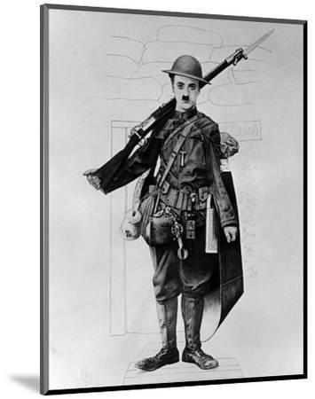 Charles Chaplin--Mounted Photo