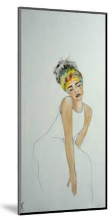 African Woman with Colourful Headdress (2) 2016-Susan Adams-Mounted Giclee Print