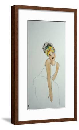 African Woman with Colourful Headdress (2) 2016-Susan Adams-Framed Giclee Print