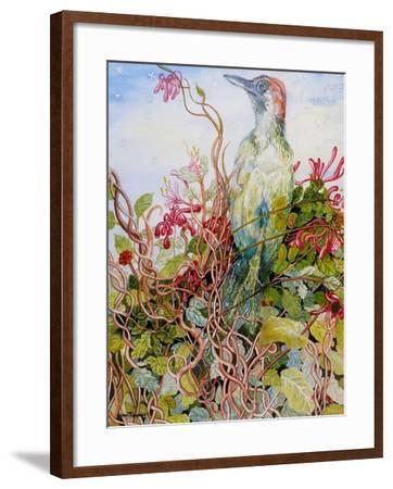 Woodpecker in the Honeysuckle, 2010-Joan Thewsey-Framed Giclee Print
