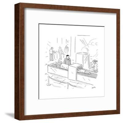 Kim Jong Un Missile in Airport Security - Cartoon-Kim Warp-Framed Premium Giclee Print