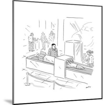 Kim Jong Un Missile in Airport Security - Cartoon-Kim Warp-Mounted Premium Giclee Print