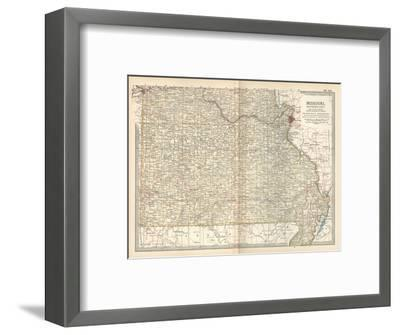 Map of Missouri, Southern Part. United States-Encyclopaedia Britannica-Framed Giclee Print
