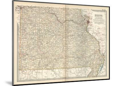 Map of Missouri, Southern Part. United States-Encyclopaedia Britannica-Mounted Giclee Print