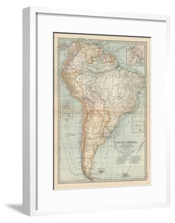Map of South America. Inset Map of the Isthmus of Panama and the ...
