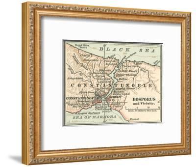 Map of Bosphorus (C. 1900), Maps-Encyclopaedia Britannica-Framed Giclee Print